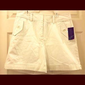 (New) Rafaella Women White casual shorts, Size 10